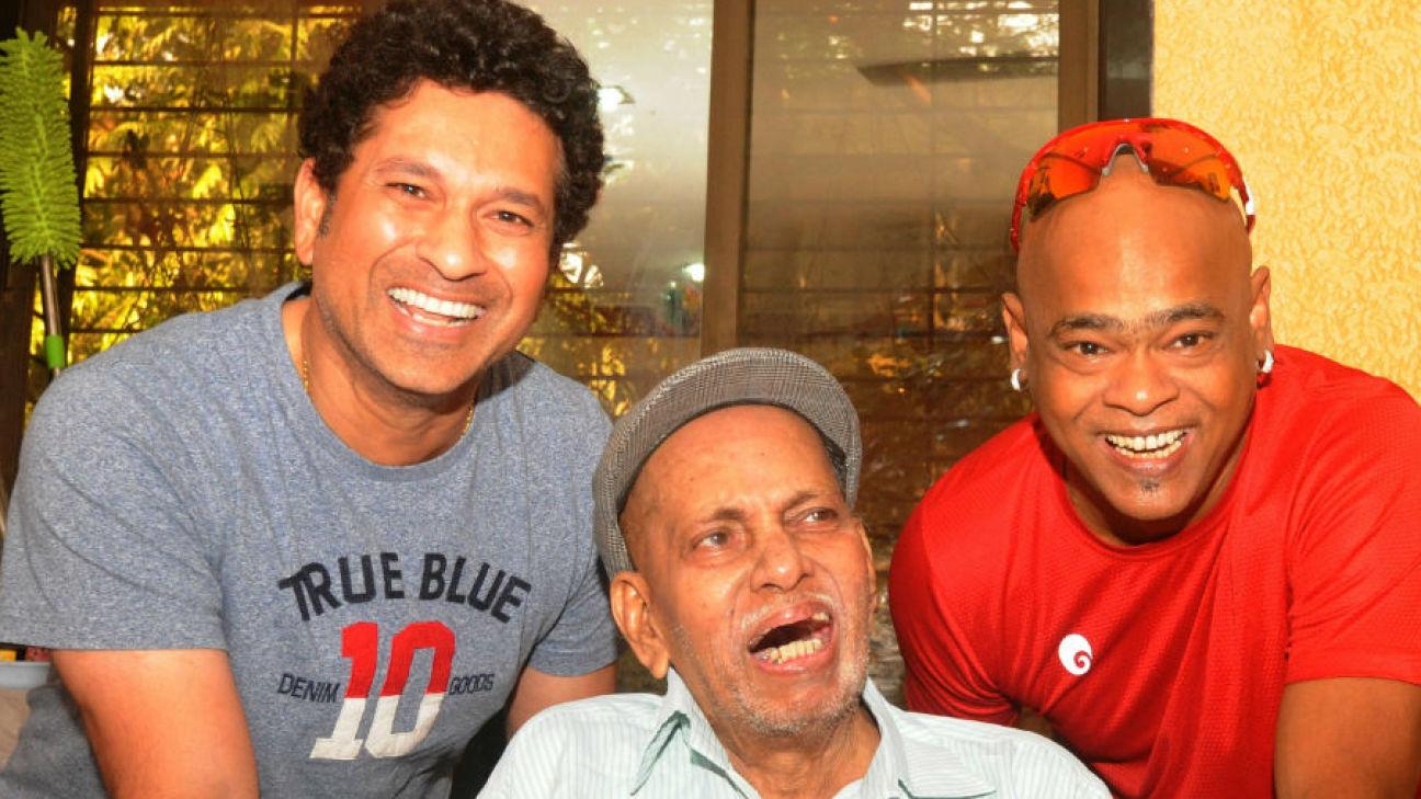 Indian Cricketers: Sachin Tendulkar honours Ramakant Achrekar (boyhood coach), Vinod Kambli