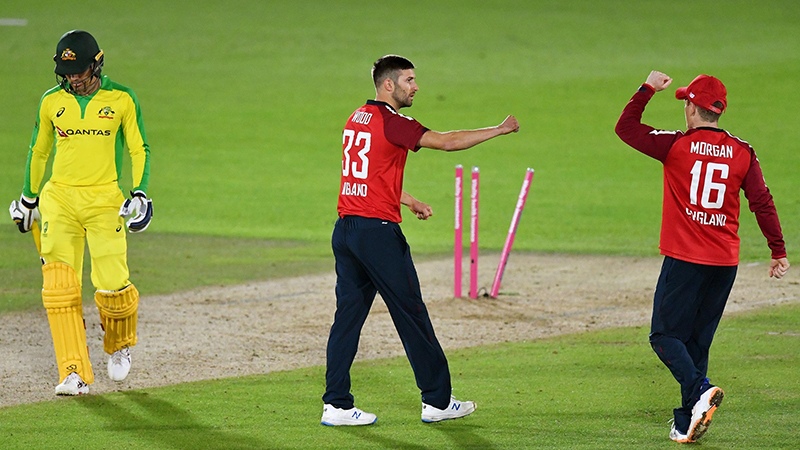 Late collapse hands England tense win in first T20